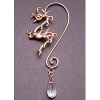 Bronze Dragon Ear Wrap with Crystal Jewelry Gem Shop  Sterling Silver Jewerly | Gemstone Jewelry | Unique Jewelry