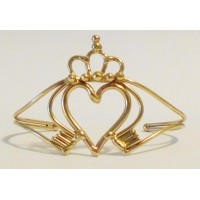 Claddagh Hand Made Bronze Bracelet