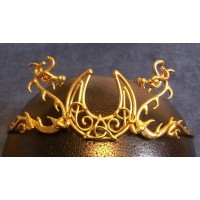 Dragon Moon Bronze Draconian Wiccan Circlet