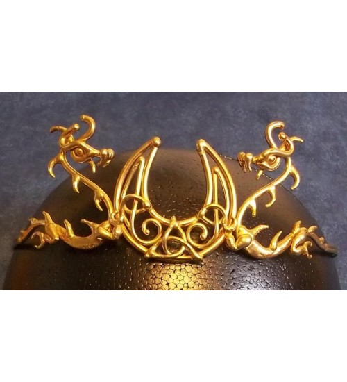 Dragon Moon Bronze Draconian Wiccan Circlet at Jewelry Gem Shop,  Sterling Silver Jewerly | Gemstone Jewelry | Unique Jewelry