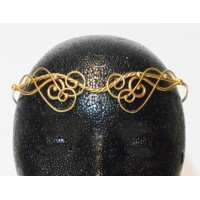 Iona Elaborate Twisted Bronze Circlet