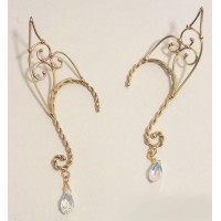 Elf Ear Bronze Ear Wrap with Crystal Jewelry Gem Shop  Sterling Silver Jewerly | Gemstone Jewelry | Unique Jewelry