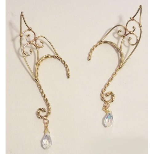 Elf Ear Bronze Ear Wrap with Crystal at Jewelry Gem Shop,  Sterling Silver Jewerly | Gemstone Jewelry | Unique Jewelry
