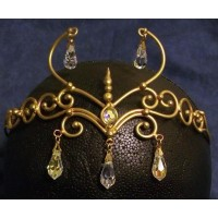 Elven Bronze Circlet with 6 Crystals