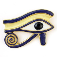 Eye of Horus Brooch/Pendant Jewelry Gem Shop  Sterling Silver Jewerly | Gemstone Jewelry | Unique Jewelry