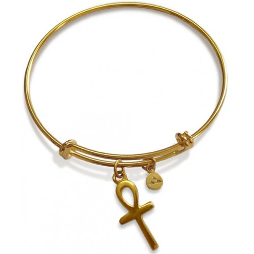 Ankh Charm Slider Bangle Bracelet at Jewelry Gem Shop,  Sterling Silver Jewerly | Gemstone Jewelry | Unique Jewelry