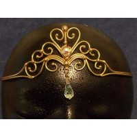 Heart Crystal Bronze Hand Made Tiara