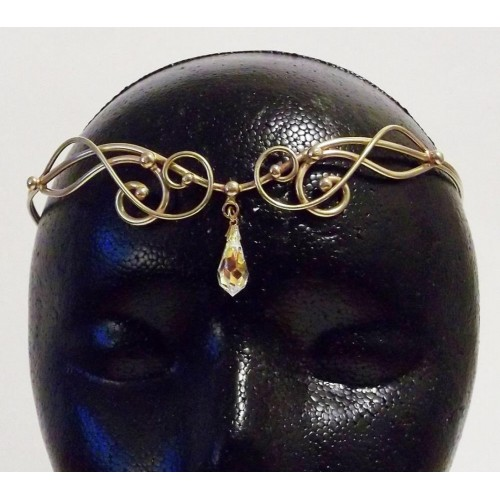 Iona Bronze Circlet with Crystal Drop at Jewelry Gem Shop,  Sterling Silver Jewerly | Gemstone Jewelry | Unique Jewelry