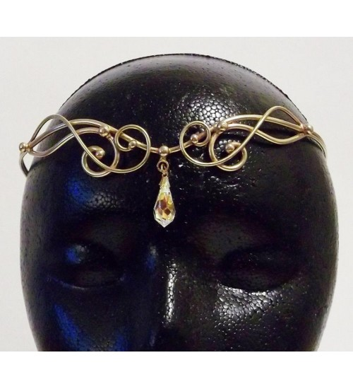Iona Bronze Circlet with Crystal Drop at Jewelry Gem Shop,  Sterling Silver Jewerly   Gemstone Jewelry   Unique Jewelry