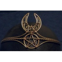 Celtic Moon Triquetra Pentacle Bronze Wiccan Circlet Jewelry Gem Shop  Sterling Silver Jewerly | Gemstone Jewelry | Unique Jewelry