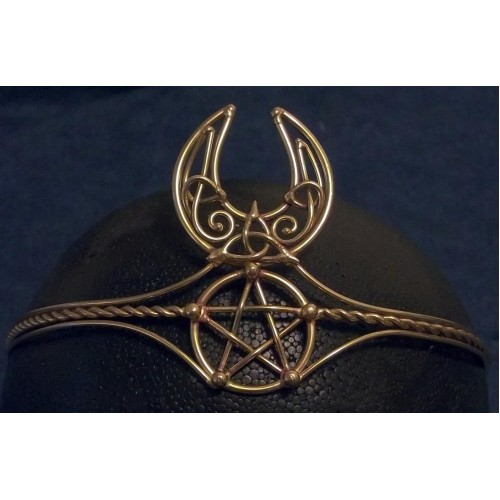 Celtic Moon Triquetra Pentacle Bronze Wiccan Circlet at Jewelry Gem Shop,  Sterling Silver Jewerly | Gemstone Jewelry | Unique Jewelry