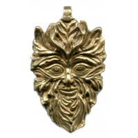 Green Man of the Woods God Pendant Jewelry Gem Shop  Sterling Silver Jewerly | Gemstone Jewelry | Unique Jewelry