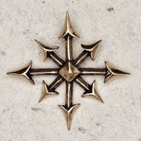 Chaos Symbol Bronze Necklace