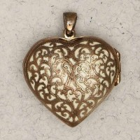 Heart 2 Sided Bronze Locket Necklace
