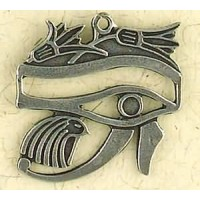 Eye of Horus with Lotus Pewter Necklace Jewelry Gem Shop  Sterling Silver Jewerly | Gemstone Jewelry | Unique Jewelry