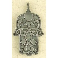Hamsa Pewter Hand of Healing Necklace Jewelry Gem Shop  Sterling Silver Jewerly | Gemstone Jewelry | Unique Jewelry