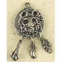 Bear Animal Spirit Pewter Necklace Jewelry Gem Shop  Sterling Silver Jewerly | Gemstone Jewelry | Unique Jewelry