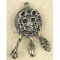 Bear Animal Spirit Pewter Necklace Jewelry Gem Shop  Sterling Silver Jewerly | Gemstone Jewelry | Unique Jewelry