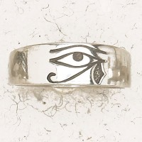 Eye of Horus Pewter Band Ring Jewelry Gem Shop  Sterling Silver Jewerly | Gemstone Jewelry | Unique Jewelry