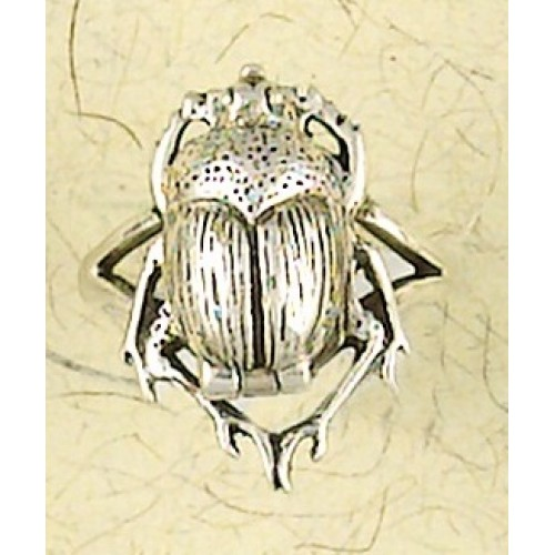 Scarab Sterling Silver Poison Ring