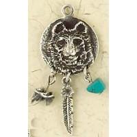 Bear Animal Spirit Sterling Slver Necklace Jewelry Gem Shop  Sterling Silver Jewerly | Gemstone Jewelry | Unique Jewelry