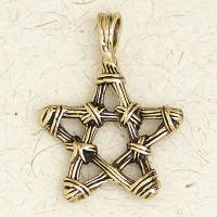 Pentacle Bronze Necklace