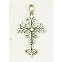 Gothic Cross Bronze Necklace