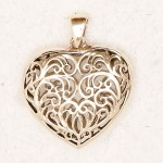 Filigree 2 Sided Heart Bronze Necklace at Jewelry Gem Shop,  Sterling Silver Jewerly | Gemstone Jewelry | Unique Jewelry