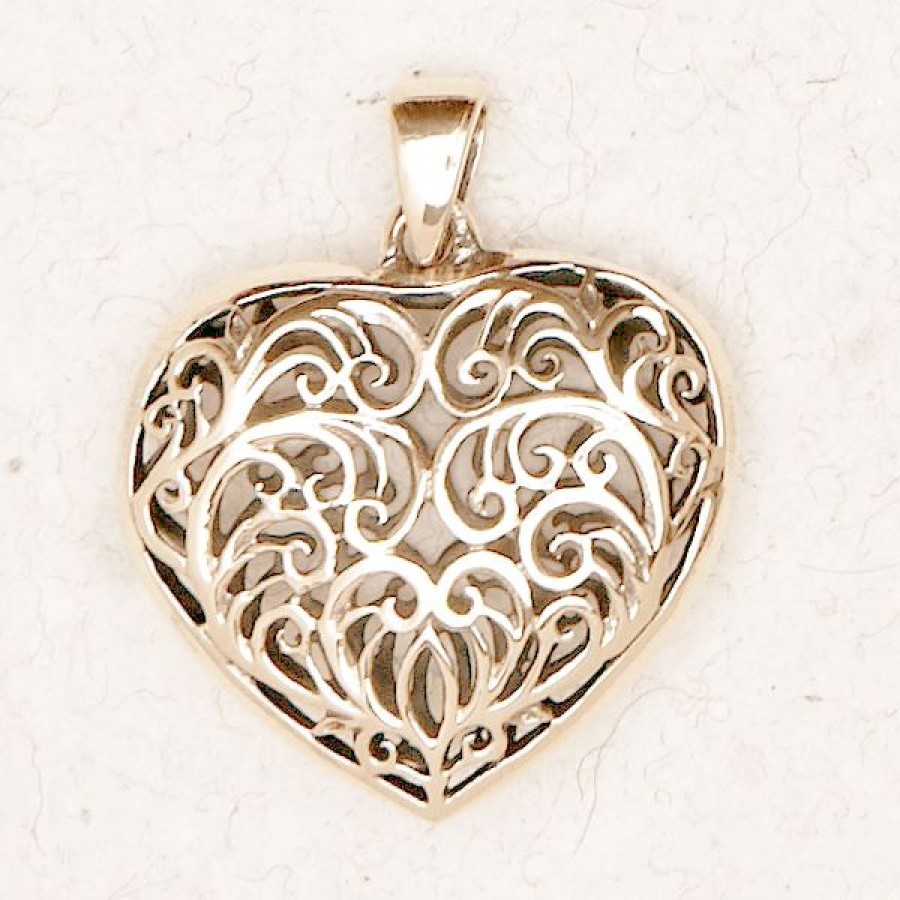 Bzp 244 filigree heart pendant 900x900g filigree 2 sided heart bronze necklace mozeypictures Image collections