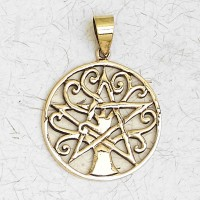 Pentacle Tree of Life Bronze Necklace