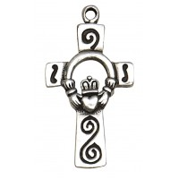 Claddagh Celtic Heart Pewter Necklace