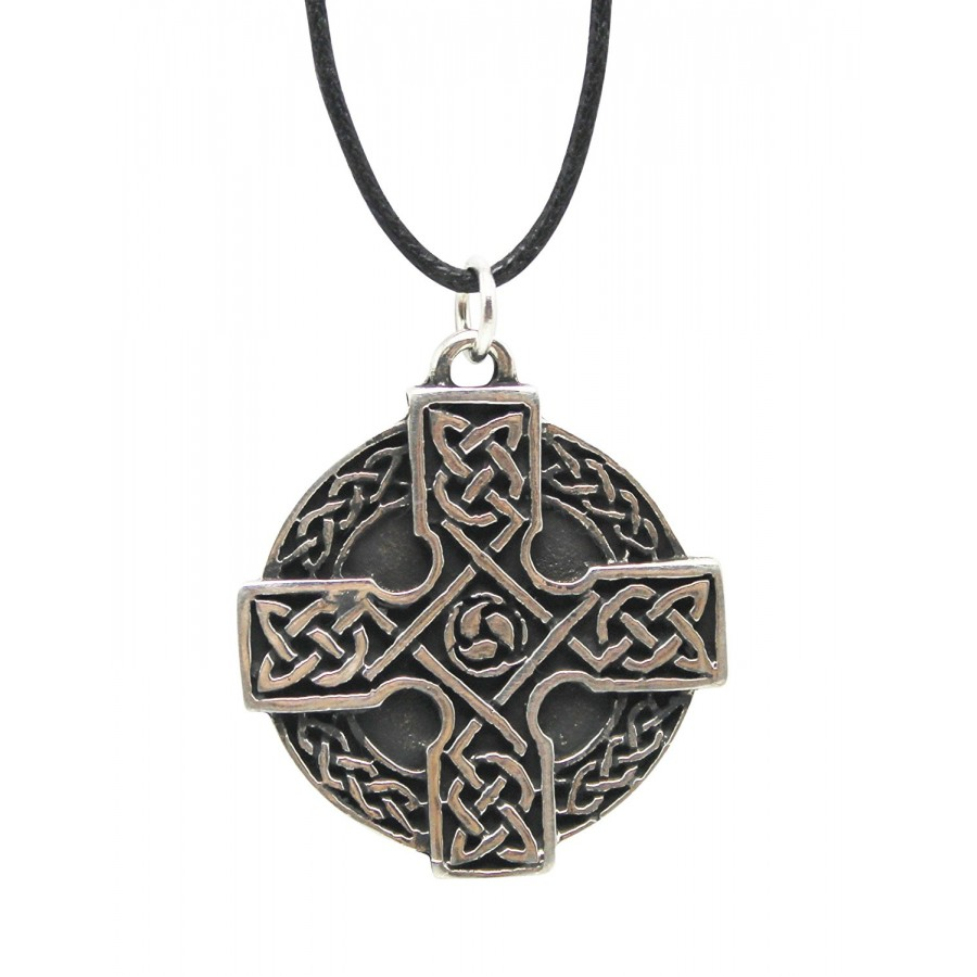 Celtic cross necklace in pewter or brass celtic jewelry celtic cross necklace in pewter or brass at jewelry gem shop sterling silver jewerly aloadofball Gallery