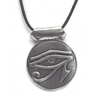 Eye of Horus Disk Pewter Necklace Jewelry Gem Shop  Sterling Silver Jewerly | Gemstone Jewelry | Unique Jewelry