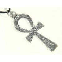 Ankh Inscribed Pewter Necklace Jewelry Gem Shop  Sterling Silver Jewerly | Gemstone Jewelry | Unique Jewelry