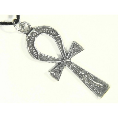 Ankh Inscribed Pewter Necklace at Jewelry Gem Shop,  Sterling Silver Jewerly | Gemstone Jewelry | Unique Jewelry
