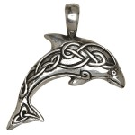 Dolphin Celtic Knot Pewter Necklace at Jewelry Gem Shop,  Sterling Silver Jewerly   Gemstone Jewelry   Unique Jewelry