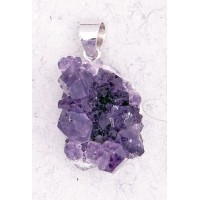 Amethyst Natural Druzy Pendant Jewelry Gem Shop  Sterling Silver Jewerly | Gemstone Jewelry | Unique Jewelry