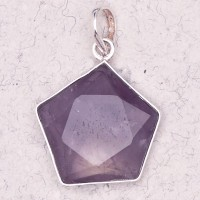 Amethyst 5 Point Prisma Star Pendant Jewelry Gem Shop  Sterling Silver Jewerly | Gemstone Jewelry | Unique Jewelry