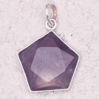 Amethyst 5 Point Prisma Star Pendant Jewelry Gem Shop  Sterling Silver Jewerly | Gemstone Jewelry | Unique Jewelry