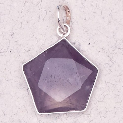 Amethyst 5 Point Prisma Star Pendant at Jewelry Gem Shop,  Sterling Silver Jewerly | Gemstone Jewelry | Unique Jewelry