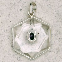 Clear Quartz 6 Point Prisma Star with Gemstone Pendant Jewelry Gem Shop  Sterling Silver Jewerly | Gemstone Jewelry | Unique Jewelry