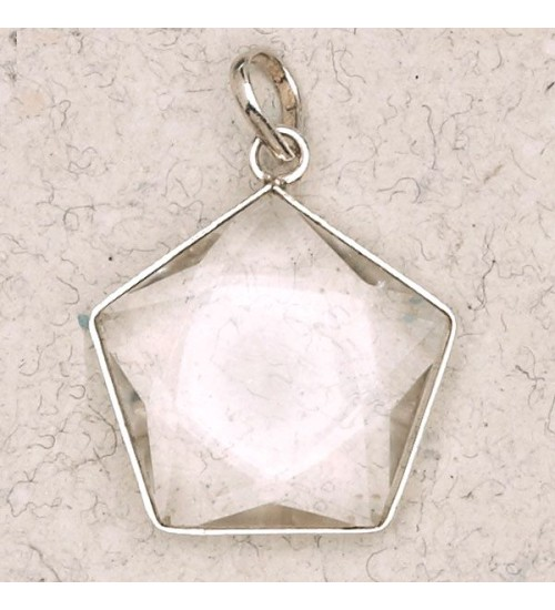Clear Quartz 5 Point Prisma Star Pendant at Jewelry Gem Shop,  Sterling Silver Jewerly | Gemstone Jewelry | Unique Jewelry