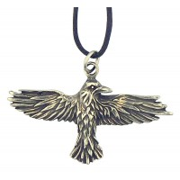 Celtic Raven Pewter Necklace