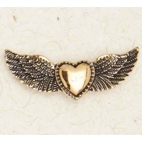 Winged Heart Bronze Necklace