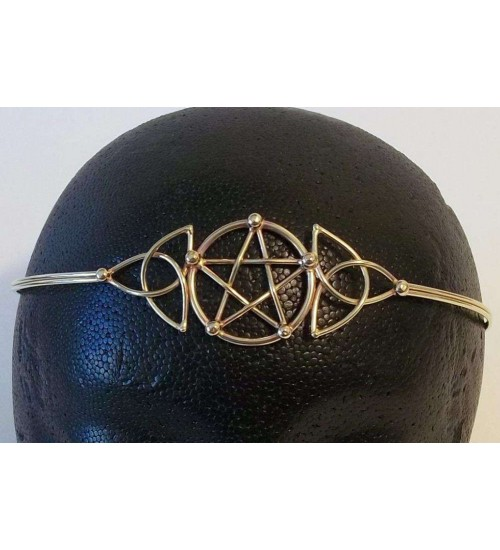 Pentacle Celtic Triquetra Bronze Circlet at Jewelry Gem Shop,  Sterling Silver Jewerly | Gemstone Jewelry | Unique Jewelry