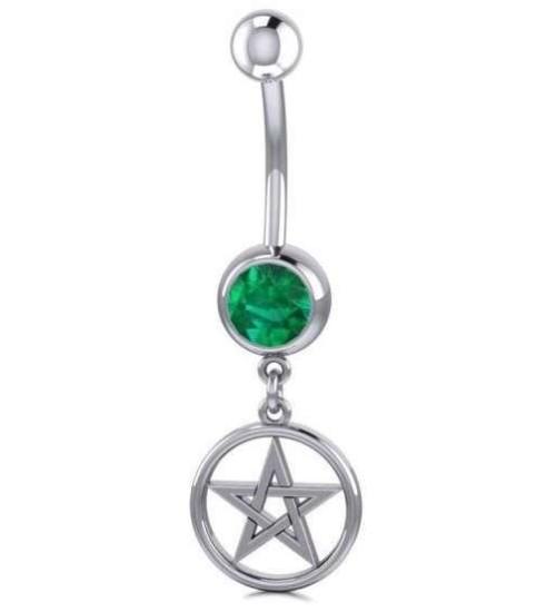 Pentacle Body Jewelry with Gemstone at Jewelry Gem Shop,  Sterling Silver Jewerly | Gemstone Jewelry | Unique Jewelry