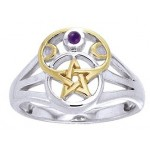Pentacle Gemstone Ring at Jewelry Gem Shop,  Sterling Silver Jewerly | Gemstone Jewelry | Unique Jewelry