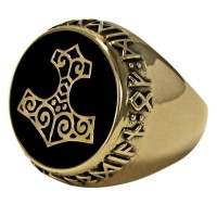 Thor Hammer Bronze Signet Ring Jewelry Gem Shop  Sterling Silver Jewerly | Gemstone Jewelry | Unique Jewelry