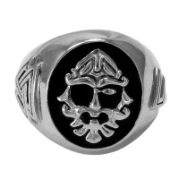 Odin Large Sterling Silver Valknut Signet Ring