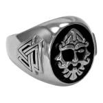 Odin Large Sterling Silver Valknut Signet Ring